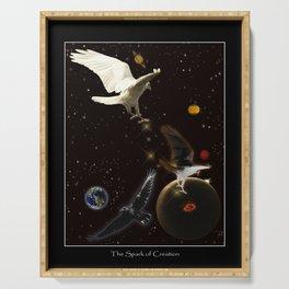 """Spark of Creation"" Raven Artwork Serving Tray"