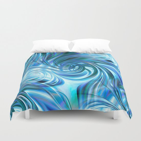 Curls Deluxe Blue Duvet Cover