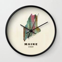 Maine state map modern Wall Clock