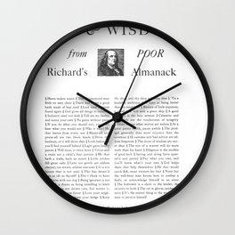 Wit & Wisdom from Poor Richard's Almanack Wall Clock