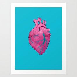 Hearts 01 - Human Heart Art Print