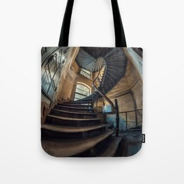 Old forgotten staircase Tote Bag
