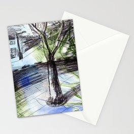 Night tree Stationery Cards