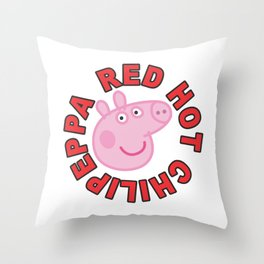 Red hot chilipeppa Throw Pillow