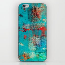 Aztec Turquoise Stone Abstract Texture Design Art iPhone Skin
