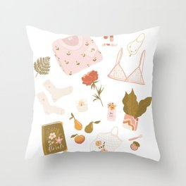 Girly stuff Throw Pillow