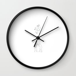 Bachelor Party Cool Gift night Stag Wall Clock