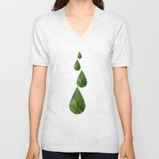 Green Leaves after the rain Unisex V-Neck