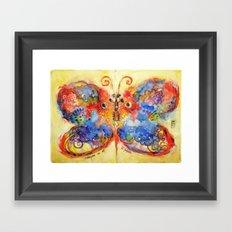 Astrazioni su ali di farfalla Framed Art Print