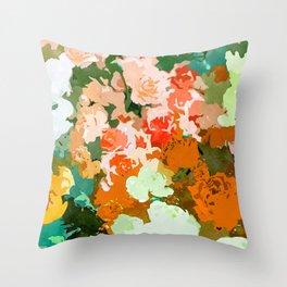 Velvet Floral Throw Pillow