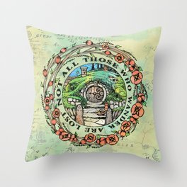 Not All Those Who Wander Throw Pillow