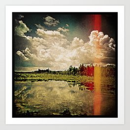 'ROADSIDE DRAMA' Art Print