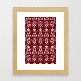 Krampus Red Framed Art Print