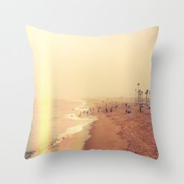 Foggy Tide Throw Pillow