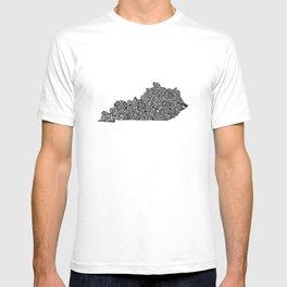 Typographic Kentucky T-shirt