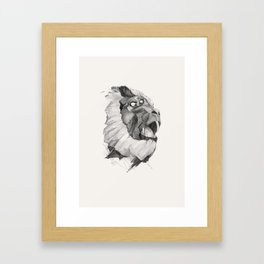 Seven Monkeys – Lust Framed Art Print
