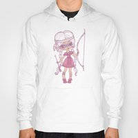 bows Hoodies featuring Bows and Arrows by tsai-fi