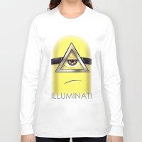 minions Long Sleeve T-shirts featuring Minions Illuminati by Vincent Trinidad