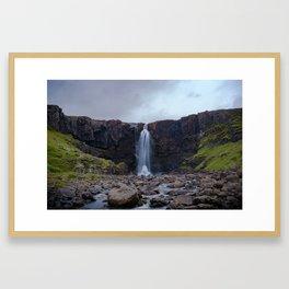 Gufufoss waterfall in Iceland Framed Art Print