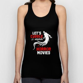 Halloween Lets Cuddle And Watch Horror Movies Unisex Tank Top