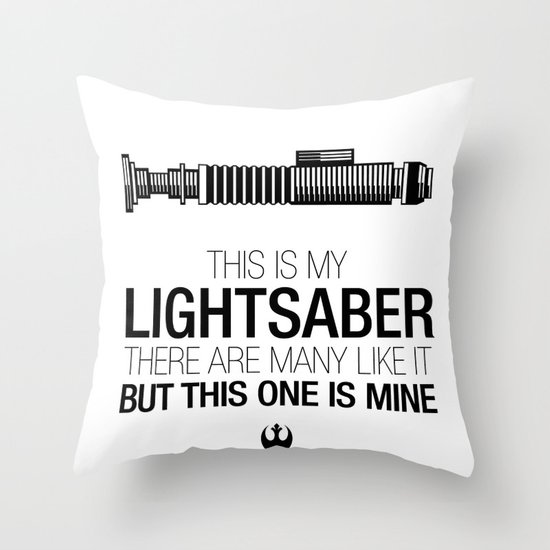 This is my Lightsaber (Luke Version) Throw Pillow