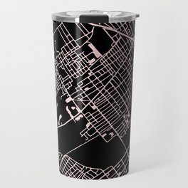 Wilkes-Barre Rose Gold and White Map Travel Mug