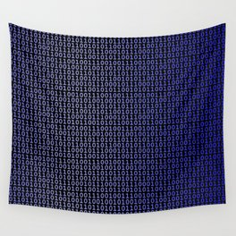 Binary Blue Wall Tapestry
