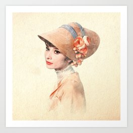 Audrey Hepburn - Eliza Doolittle - Watercolor Art Print