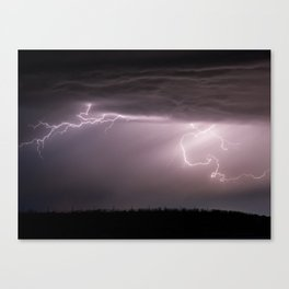 Summer Lightning Storm On The Prairie VI - Nature Landscape Canvas Print