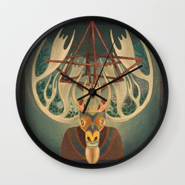 The Father Moose Wall Clock