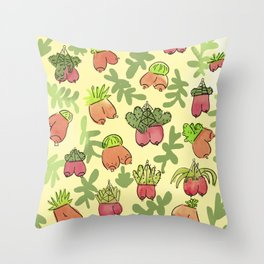 Boob Garden Throw Pillow