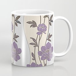 Purple Flower Garland Coffee Mug