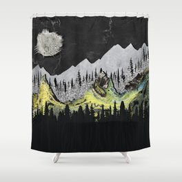 Silicone Mountains Shower Curtain