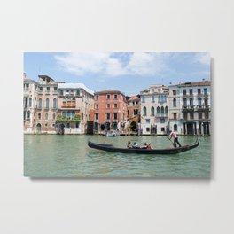 Floating Along the Grand Canal Metal Print