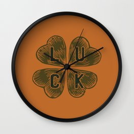 Curry Color Luck Wall Clock