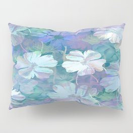 Painterly Midnight Floral Abstract Pillow Sham