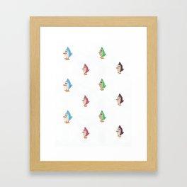 Colorful Birds Pattern Framed Art Print