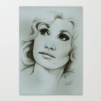 dolly parton Canvas Prints featuring Dolly Parton by Talula Christian