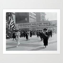 Vintage Photo - Suffragette 2# Art Print