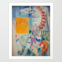 "Robert Delaunay ""Astra"" (also known as Study for ""The Football Players of Cardiff"") Art Print"