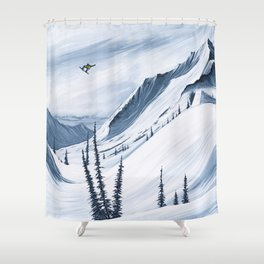 'Chads Gap' Iconic Snowboarding Moments Shower Curtain