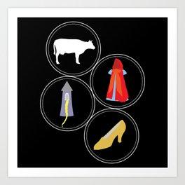The Cow as White as Milk... Art Print