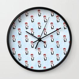 Boston Terrier Santa Wall Clock