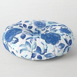 PARISIAN BLOOM Blue Roses Floor Pillow