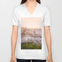 florence V-neck T-shirts featuring Florence by ocophoto