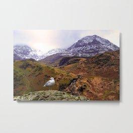 Mount Snowdon, Wales. Metal Print
