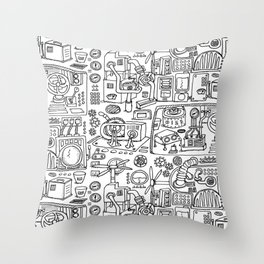 Machinework Throw Pillow