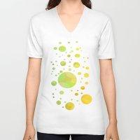bubbles V-neck T-shirts featuring Bubbles by DagmarMarina