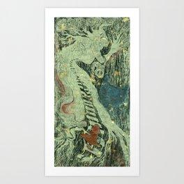 The visit  Art Print