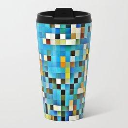 Blue glass mosaic Travel Mug